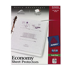 Avery - Top-Load Poly Sheet Protectors, Economy Gauge, Letter, Semi-Clear -  150/Box