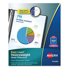 Avery Top-Load Poly Sheet Protectors, Heavy, Letter, Diamond Clear, 200ct.