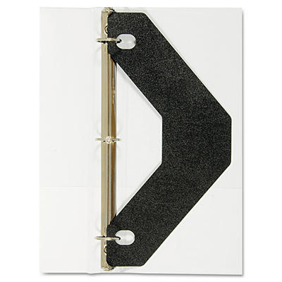 Avery Triangle Shaped Sheet Lifter for Three-Ring Binder, Black, 2 Pack