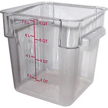 Carlisle Square Food Container Container, Clear - 8 Quart