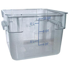 Carlisle Square Clear Plastic Food Storage - 12 Quart