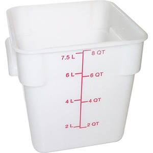 Carlisle Square Food Container, White - 8 Quart