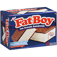 FatBoy® Premium Vanilla Ice Cream Sandwich  (18 ct.)