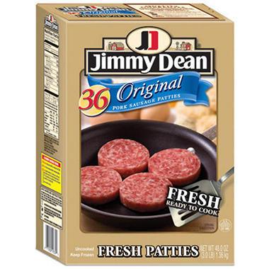 Jimmy Dean® Fresh Patties - 36ct