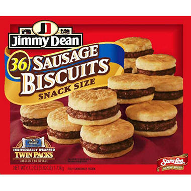 Jimmy Dean Sausage & Biscuit - 36 ct.