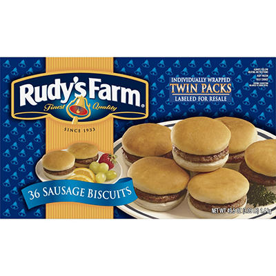 Rudy's Farm Sausage Biscuits - 36 ct.