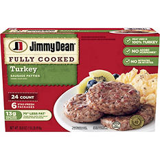 Jimmy Dean Turkey Sausage Patties - 24 ct.