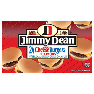 Jimmy Dean� Mini Cheese Burgers - 24 ct.