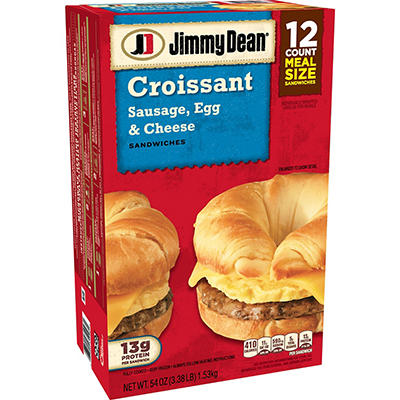 Jimmy Dean Sausage, Egg & Cheese Croissant Sandwiches (12 ct., 54 oz.)