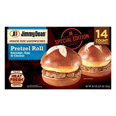 Jimmy Dean Snack Size Pretzel Roll - Sausage, Egg and Cheese (36.4 oz., 14 ct.)