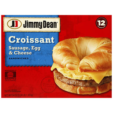 Jimmy Dean� Sausage, Egg and Cheese Croissant - 12 ct.