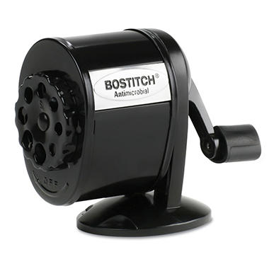 Stanley Bostitch - Table-Mount/Wall-Mount Antimicrobial Manual Pencil Sharpener - Black