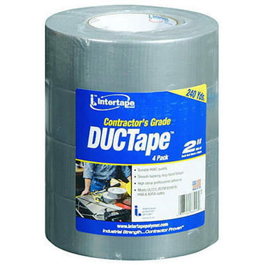 Intertape Contractor's Grade DUCTape - 60 yds. - 4 pk.