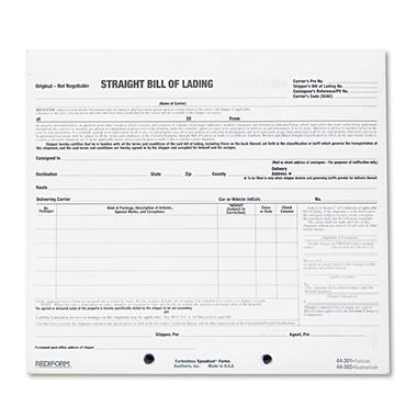 Rediform - Snap-A-Way Bill of Lading Forms