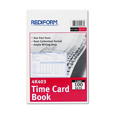 Rediform® Weekly Time Card - 100/Pad