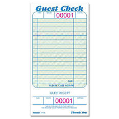 "Guest Check Pads - 3-3/8"" x 6-1/2"" - 10 pk."