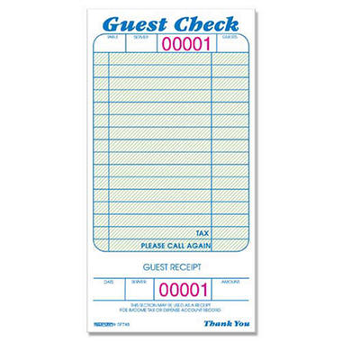 Guest Check Pads - 3-3/8