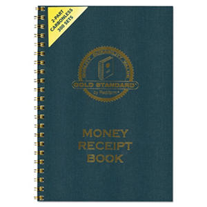 Rediform Money Receipt Book, Carbonless Duplicate, Twin Wire, 7 x 2 3/4, 300 Sets/Book