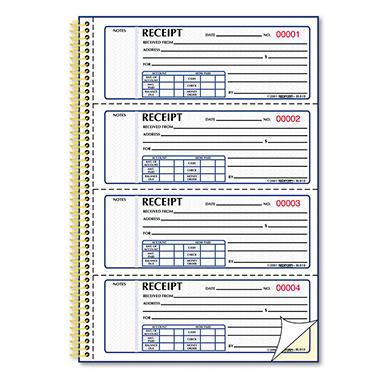 Money Receipt Books - 2-3/4