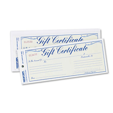 Rediform Gift Certificates w/Envelopes - 25 pk.
