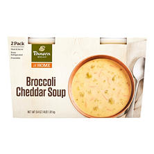 Panera Bread Broccoli Cheddar Soup (24 oz. tubs, 2 pk.)