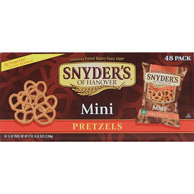 Snyder's of Hanover Mini Pretzels 1.5 oz. (48 ct.)