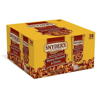 Snyder's of Hanover Honey Mustard & Onion Pretzel Pieces 1.4 oz. (28 ct.)