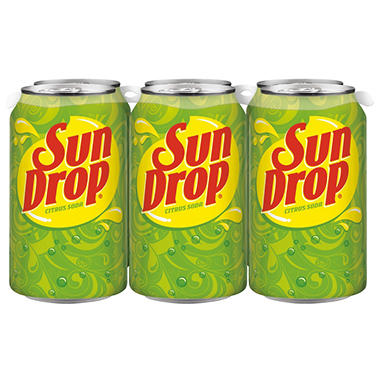 Sun Drop Citrus Soda (12 oz. cans, 6 pk.)