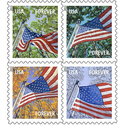 USPS - FOREVER® STAMPS  - Lady Liberty and U.S. Flag - 100 Stamps
