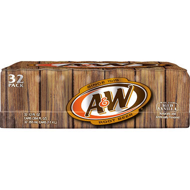 A&W Root Beer - 12 oz. cans - 32 pk.