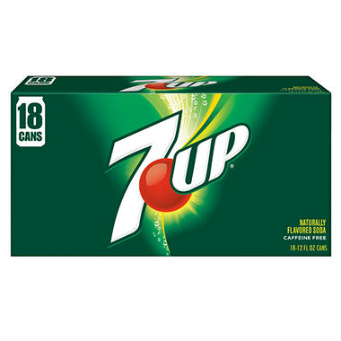 7-Up (12 oz. cans, 18 pk.)