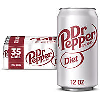 Diet Dr Pepper (12 oz cans, 35 pk.)