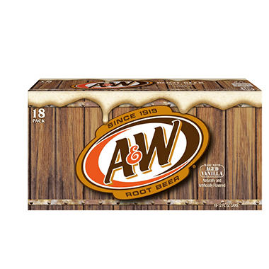 A&W Root Beer - 12 oz. cans - 18 pk.