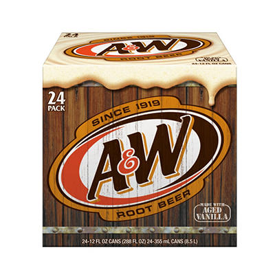 A&W Root Beer (12 oz. cans, 24 pk.)