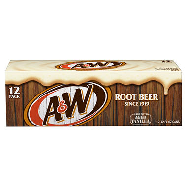 A&W Root Beer (12 oz. cans, 12 pk.)