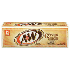 A & W Cream Soda (12 oz. cans, 12 pk.)