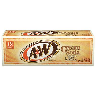 A & W Cream Soda (12 oz. cans, 12 pk.)