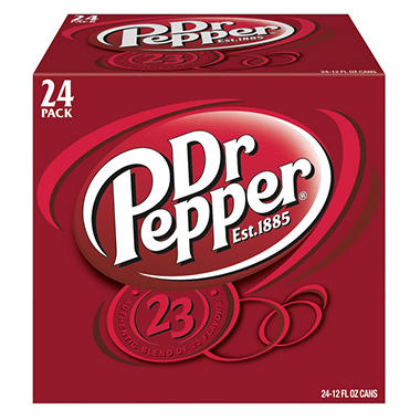 Dr Pepper - 12 oz. cans - 24 pk.