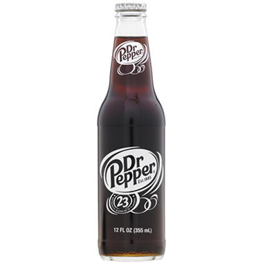 Dr. Pepper (12 oz. glass bottles, 24 pk.)
