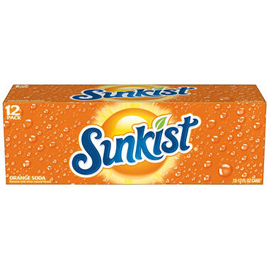 Sunkist® Orange Soda - 12/12 oz. cans