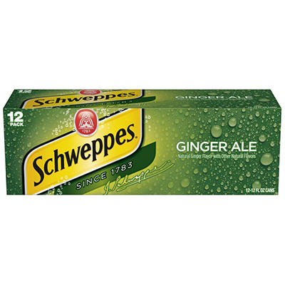 Schweppes® Ginger Ale - 12 cans - 12 oz. each