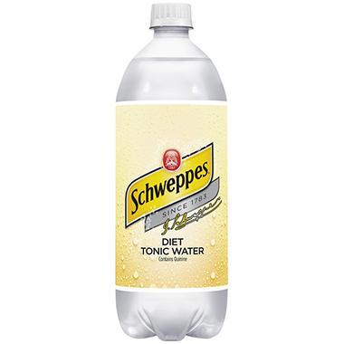 Schweppes Diet Tonic Water - 1 Liter - 12 pk.