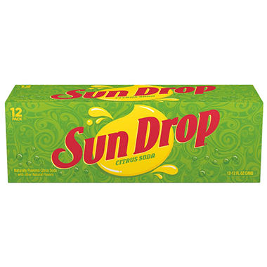 Sun Drop Citrus Soda - 12 oz. cans - 12 pk.