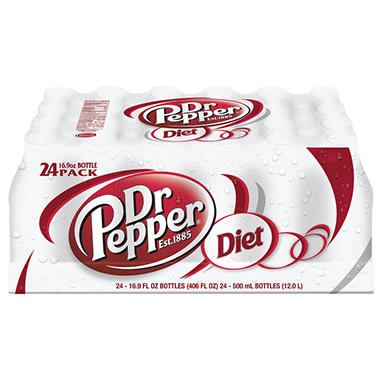 Diet Dr Pepper - 16.9 oz. bottles - 24 pk.