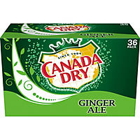 Canada Dry Ginger Ale (12 oz. cans, 36 pk.)