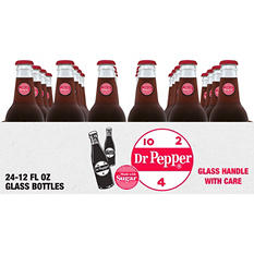 Dr Pepper with Sugar (12 oz. glass bottles, 24 pk.)