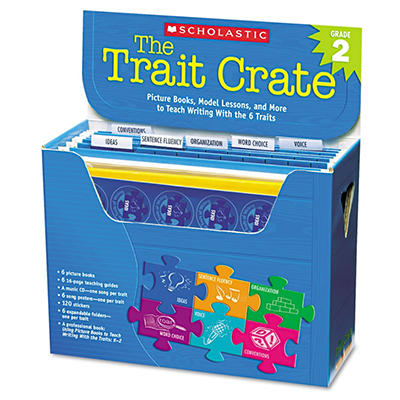 Scholastic - Trait Crate, Grade 2, Six Books, Learning Guide, CD -  More