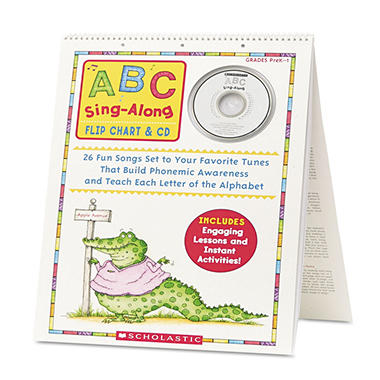 Scholastic ABC Sing-Along Flip Chart, 26 pages -  CD