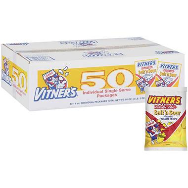 Vitner's Salt 'n Sour Sizzlin' Hot Chips - 1 oz. - 50 ct.
