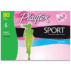 Playtex Sport Tampons, Super Unscented (80 ct.)